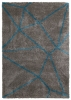 Royal Nomadic 5746 Grey/blue Modern Machine Made Rug - 100% Polypropylene