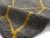 Royal Nomadic 5746 Grey/yellow Modern Machine Made Rug - 100% Polypropylene
