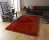 Sable 2 Burnt Orange Shaggy Hand Tufted Rug - 100% Viscose