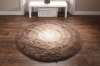 Shadow Circle Shaggy Hand Tufted Rug - 100% Acrylic