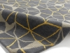 Spectrum Sp37 Grey/yellow Modern Hand Tufted Rug - 100% Wool