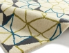 Spectrum Sp37 Ivory/green/blue Modern Hand Tufted Rug - 100% Wool
