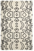 Spectrum Sp41 White/black Modern Hand Tufted Rug - 100% Wool