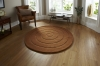 Spiral Brown Circular Hand Tufted Rug - 100% Wool