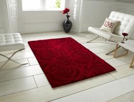 Valentine Vl 10 Red Floral Hand Tufted Rug - 100% Wool