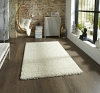 Vista 2236 Cream Shaggy Machine Made Rug - 100% Polypropylene