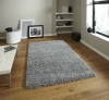 Vista 2236 Grey Shaggy Machine Made Rug - 100% Polypropylene