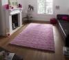 Vista 2236 Pink Circle Shaggy Machine Made Rug - 100% Polypropylene