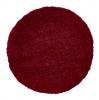 Vista 2236 Red Circle Shaggy Machine Made Rug - 100% Polypropylene