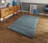 Vista 2236 Teal Blue Shaggy Machine Made Rug - 100% Polypropylene