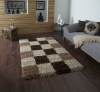 Vista 2247 Check Shaggy Machine Made Rug - 100% Polypropylene